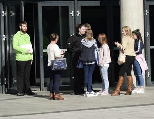 Press Eye - Northern Ireland -31st March 2016  Photograph: Stephen Hamilton /Presseye Angry Little Mix fans pictured at the SSE Arena after todays concerts were cancelled due to illness of one of the band members.