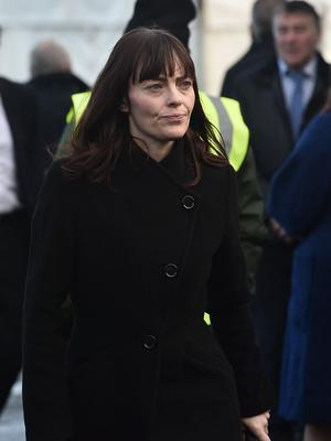 PACEMAKER BELFAST 27/01/2020 SDLP Deputy Leader Nichol Mallon during The Funeral of Seamus Mallon at St James Church in Mullaghbrack, Co Armagh on Monday. The former deputy first minister of Northern Ireland, who was one of the key architects of the 1998 Good Friday Agreement, died on Friday aged 83. Past and present government ministers are among the mourners. Photo Colm Lenaghan/Pacemaker Press