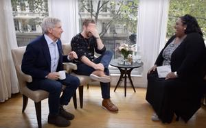 Alison Hammond chats to Harrison Ford and Ryan Gosling.