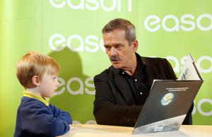 Astronaut and author Chris Hadfield in Eason in Belfast during a book signing