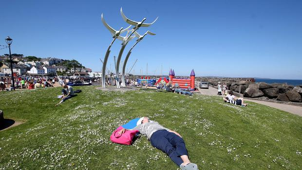 Catching rays on Ballycastle Beach on Monday as part of the Rathlin Sound Maritime Festival which runs from now until the 3rd June with a packed programme of activities on Rathlin Island and Ballycastle. Pic Steven McAuley/McAuley Multimedia