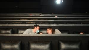 Film goers at the Showcase cinema at the Bluewater centre in Kent (Stefan Rousseau/PA)