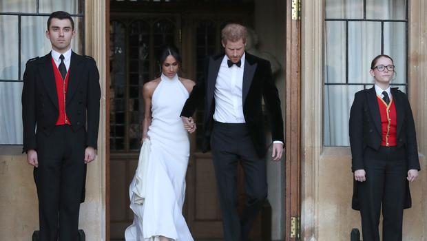 The newly married couple (Steve Parsons/PA)