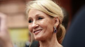 """'As JK Rowling found out to her cost last week. Rowling objected on Twitter to a sign that addressed """"people who menstruate"""", saying that there is a word for such people.' (PA)"""