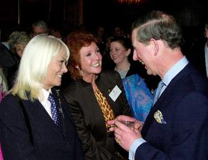 "Prince of Wales talking to actress Wendy Richard (left) andCilla Black (centre), while attending a reception to mark the 50th Anniversary of BBC Radio 4's ""The Archers"" at St, James Palace, in London in 2001. Cilla Black has died at her home in the south of Spain, according to reports.  PRESS ASSOCIATION Photo. Issue date: Sunday August 2, 2015. See PA story DEATH Black. Photo credit should read: Michael Stephens/PA Wire"