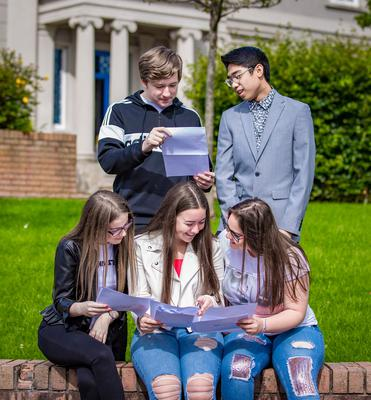 Students From Hazel Wood Integrated as he receives GCSE results on August 24th 2017 (Photo by Kevin Scott / Belfast Telegraph)