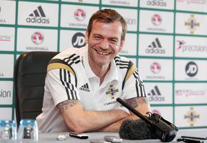 Press Eye - Belfast - Northern Ireland - 27th March 2015 Picture by Jonathan Porter / Press Eye   Northern Ireland player press conference at the Culloden Hotel ahead of their UEFA Euro 2016 qualifier against Finland at Windsor Park on Sunday.  Goalkeeper Roy Carroll.