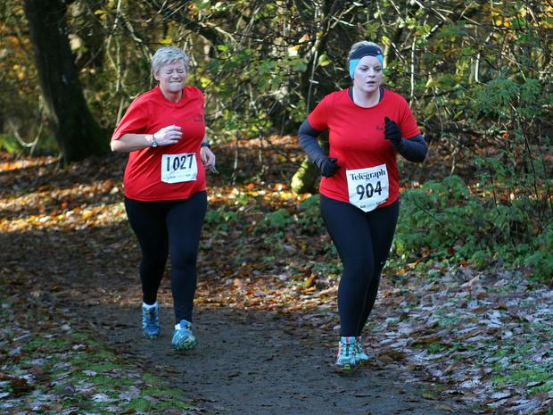 Mandatory Credit - Picture by Freddie Parkinson/Press Eye © Saturday 19th November 2016 Belfast Telegraph Run Forest Run Drum Manor Forest Park, Drum Road, Cookstown BT80 9RT Deirdre McKenny and Niamh Fogarty
