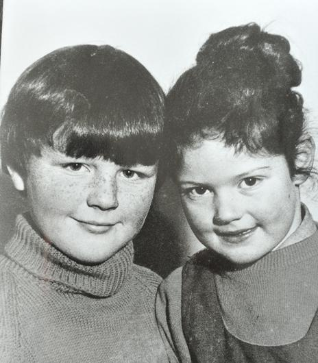 PACEMAKER PRESS INTL BELFAST 26/8/09. A Collect of  Paul Maxwell with his sister Lisa , who was murdered with Lord  Louis Mountbatten  by an IRA bomb while sailing near his holiday home in County Sligo, Ireland, on 27th August, 1979