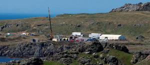 A set is created in Malin Head, Co Donegal Ireland, as filming for the next Star Wars movie will take place there. PA