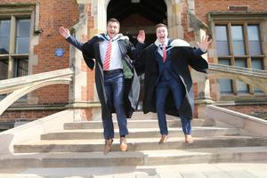 Graduating today from Queen's University Belfast are Ryan Donaghy and Lee Murphy, who are graduating from the School of History and Anthropology. Both Ryan and Lee plan to continue with their studies after graduation.