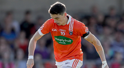On the rise: Armagh captain Rory Grugan
