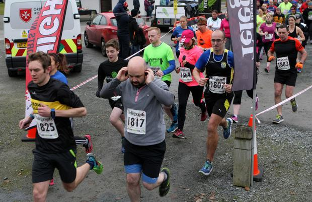 Mandatory Credit - Picture by Freddie Parkinson/Press Eye © Saturday 3rd December 2016 Belfast Telegraph Run Forest Run Loughgall. Loughgall Country Park, 11-14 Main Street, Loughgall, Armagh.