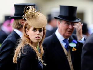 ASCOT, ENGLAND - JUNE 20:  Princess Beatrice looks on as she attends Ladies' Day during day three of Royal Ascot at Ascot Racecourse on June 20, 2013 in Ascot, England.  (Photo by Alan Crowhurst/Getty Images for Ascot Racecourse)