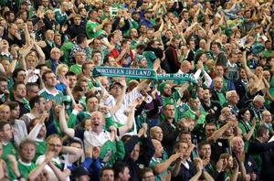 Windsor Park is set to host its first Sunday game. Fans pictured during Northern Ireland's World Cup qualifier last year against Russia. Pic David Maginnis