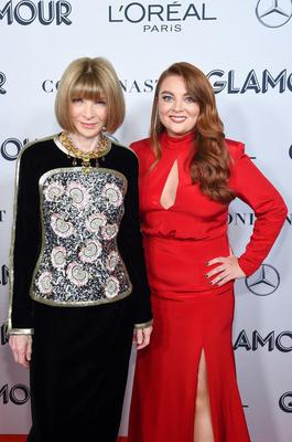 With Anna Wintour at the Glamour Woman of the Year Awards last year
