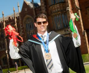 Queen's student and elite rower Philip Doyle graduates today on Saturday 30 June with a Degree in Medicine from the School of Medicine, Dentistry and Biomedical Sciences at Queen's University. Philip will represent Ireland in July at the 2018 World Rowing Cup in Lucerne.