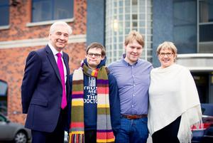 Paul Clark with his wife Carol and sons David (left) and Peter at UTV