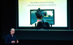 Apple CEO Tim Cook speaks during a product launch event at Apple headquarters in Cupertino, California on October 27, 2016 / AFP PHOTO / Josh EdelsonJOSH EDELSON/AFP/Getty Images