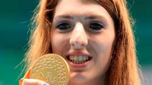 Bethany Firth celebrates 200m freestyle gold