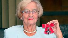 File photo dated 10/07/2009 of Liz Smith with her MBE for services to drama as the Royle Family actress has died aged 95, a spokeswoman for her family has said. PA