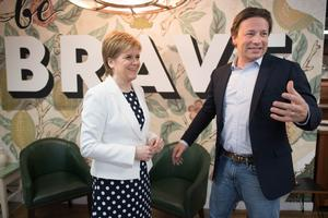 Oliver and Ms Sturgeon discussed how to tackle childhood obesity (Stefan Rousseau/PA)