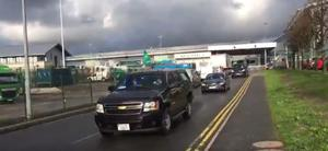 Bill Clinton sets off from Dublin Airport for Derry, and the funeral of Martin McGuinness