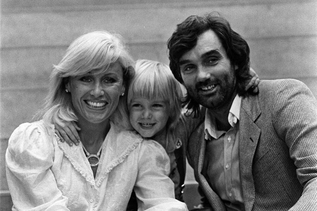 George Best with his former wife Angie and son Calum