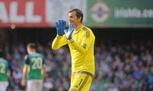 Picture - Kevin Scott / Presseye  Belfast , UK - May 27, Pictured is Northern Irelands Roy Carroll in action during the friendly between Northern Ireland and Belarus as the last home game before heading to the Euros on May 27 2016 in Belfast , Northern Ireland ( Photo by Kevin Scott / Presseye)