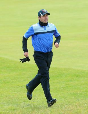 NEWCASTLE, NORTHERN IRELAND - MAY 28:  Felipe Aguilar of Chile runs down the 3rd hole during the First Round of the Dubai Duty Free Irish Open Hosted by the Rory Foundation at Royal County Down Golf Club on May 28, 2015 in Newcastle, Northern Ireland.  (Photo by Andrew Redington/Getty Images)