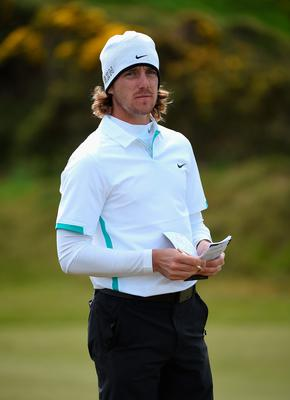 NEWCASTLE, NORTHERN IRELAND - MAY 28:  Tommy Fleetwood of England looks down the 13th hole during the First Round of the Dubai Duty Free Irish Open Hosted by the Rory Foundation at Royal County Down Golf Club on May 28, 2015 in Newcastle, Northern Ireland.  (Photo by Ross Kinnaird/Getty Images)