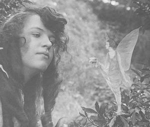 Elsie Wright with a 'fairy'