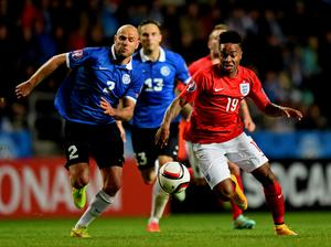 Under pressure: Sterling asked England manager Roy Hodgson not to play him from the start because he was too tired