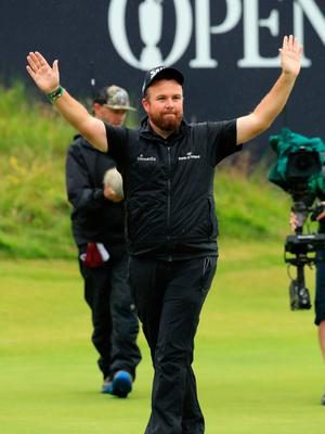 PORTRUSH, NORTHERN IRELAND - JULY 21: Open Champion Shane Lowry of Ireland celebrates on the 18th green during the final round of the 148th Open Championship held on the Dunluce Links at Royal Portrush Golf Club on July 21, 2019 in Portrush, United Kingdom. (Photo by Andrew Redington/Getty Images)
