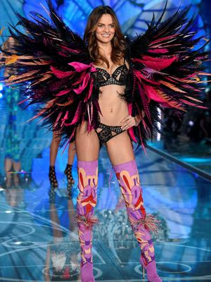 NEW YORK, NY - NOVEMBER 10:  Model Barbara Fialho from Brazil walks the runway during the 2015 Victoria's Secret Fashion Show at Lexington Avenue Armory on November 10, 2015 in New York City.  (Photo by Dimitrios Kambouris/Getty Images for Victoria's Secret)