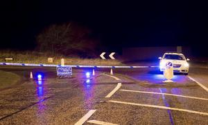 The scene of the accident on the Killead Road in Crumlin on February 26 (Photo by Kevin Scott/Presseye)