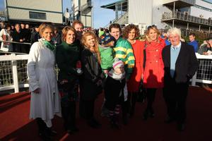 Northern Ireland Festival of Racing at Down Royal Racecourse - Day 1  Race 4 (2:35) WKD Hurdle  Tony McCoy with members of his family. after winning the 4th race.  Picture by Kelvin Boyes / Press Eye.