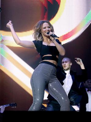 Jingle Bell Ball - London...Kimberley Walsh from Girls Aloud on stage at the Jingle Bell Ball presented by Capital FM at the O2 Arena, London. PRESS ASSOCIATION Photo. Picture date: Sunday December 9, 2012. Photo credit should read: Yui Mok/PA Wire...E