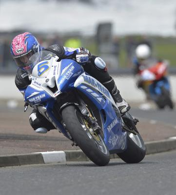 Mandatory Credit: Rowland White/PressEye Motor Cycle Road Racing Event: North West 200 Race: Supersport Tuesday Practice Date: 14th May 2013 Caption: Stuart Easton