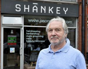 George McAteer pictured after he got his haircut at Shankeys in Belfast. Photo by Stephen Hamilton