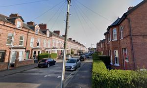 The woman's body was found in a flat in Haywood Avenue, Belfast. Picture from Google