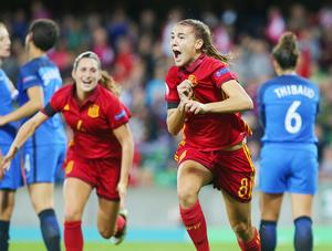 The Spanish were too good in the final too. This goal from Patricia Guijarro made it 2-3 and sealed the tournament. There could be no more fitting a winner as Guijarro finished as the tournament's top scorer.