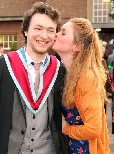 Mandatory Credit - Picture by Freddie Parkinson/Press Eye © Thursday 8th December 2016 Graduations take place at Queens University in Belfast. Timothy McGlinchey from Belfast and his fiancee Rachael McErlane.