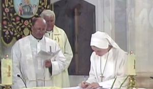 Sister Clare taking her vows