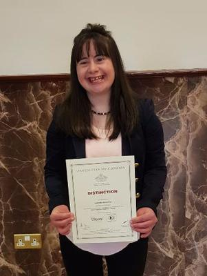 Michelle McCloskey pictured at a certificate presentation for London College of Music, University of West London, organised by the Traditional Arts Partnership, Ring of Gullion