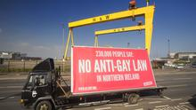 All-Out's billboard against the 'conscience clause' Bill