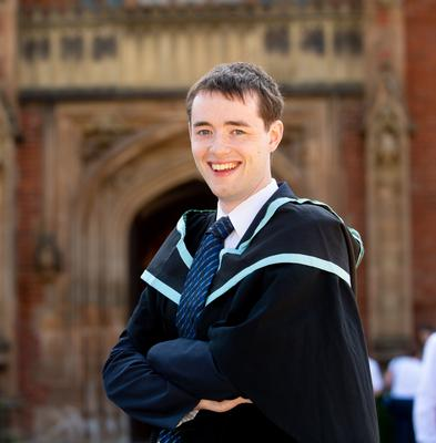Andrew Mulholland from Coleraine has graduated from Queen's University Belfast with a BSc in Computer Science including Professional Experience. Andrew has been running the Raspberry Jam coding camps at Queen's, which attracts more than 100 people aged from 6-80.