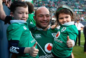 CHICAGO, IL - NOVEMBER 05:  Rory Best of Ireland celebrates following his team's 40-29 victory during the international match between Ireland and New Zealand at Soldier Field on November 5, 2016 in Chicago, United States.  (Photo by Phil Walter/Getty Images)