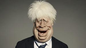 The Spitting Image puppet of Prime Minister Boris Johnson (Mark Harrison/BritBox/Avalon)