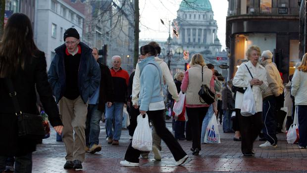 Shoppers on the streets of Belfast